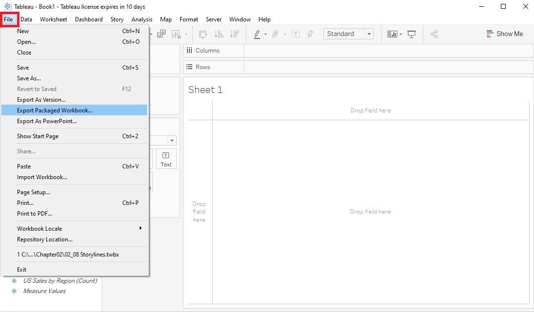 Create a packaged workbook